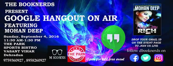 Hangout 29.0 Google Hangout on Air with Author Mohan Deep