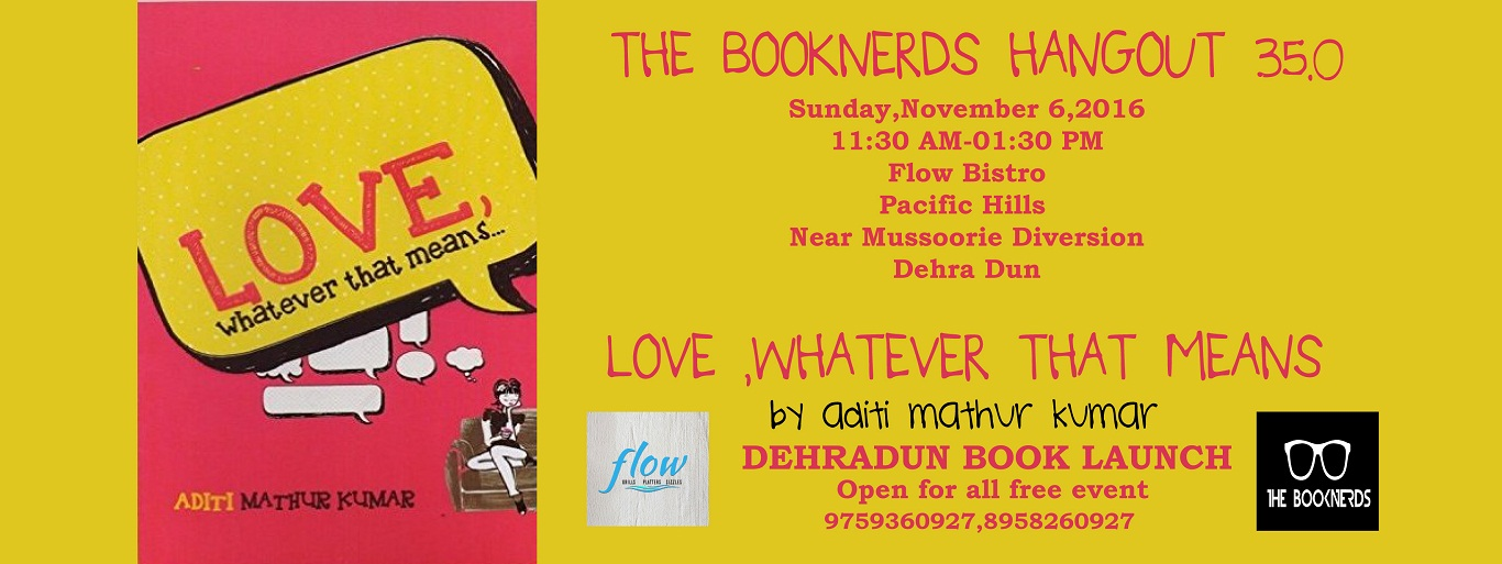 Hangout 35.0 Book Launch of Love, Whatever That Means