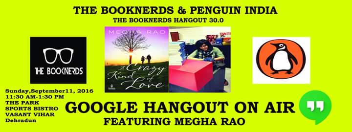 Hangout 30.0 Google Hangout on Air with Author Megha Rao