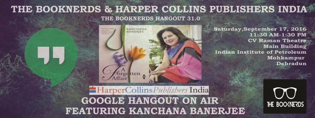 Hangout 31.0 Google Hangout on Air with Author Kanchana Banerjee