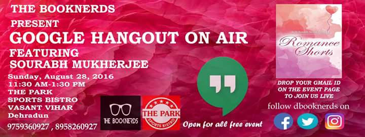 Hangout 28.0 Google Hangout on Air with Author Sourabh Mukherjee
