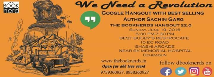The Booknerds Hangout 22.0 Google Hangout on Air with Best selling Author Sachin Garg