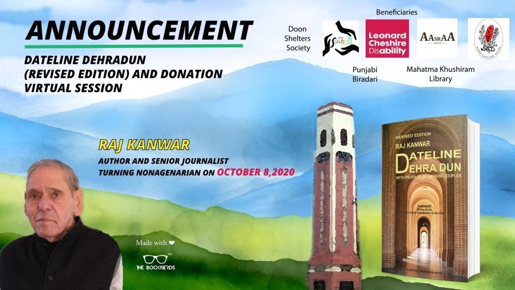 Dateline Dehradun(Revised Edition) and Donation Announcement