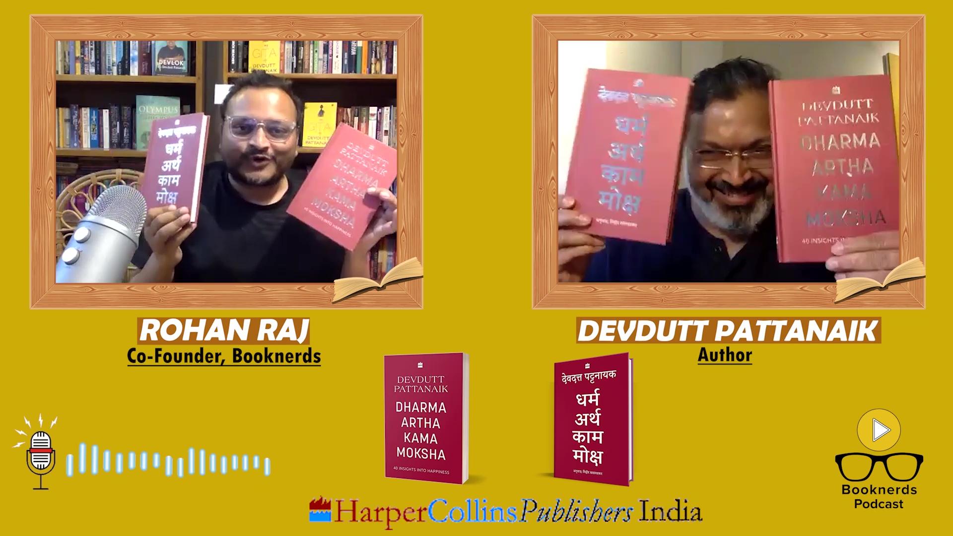 Booknerds Podcast | Devdutt Pattanaik | Dharma Artha Kama Moksha