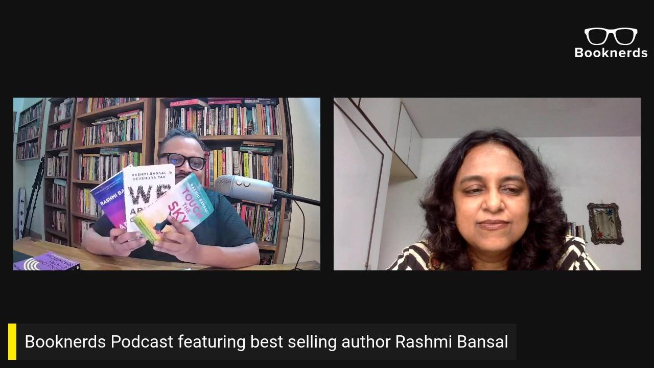 Booknerds Podcast featuring best selling author Rashmi Bansal